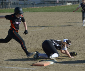 """<span class=""""entry-title-primary"""">Lincoln softball wins KVAC opener</span> <span class=""""entry-subtitle"""">Lincoln 13 -  Brunswick 1</span>"""