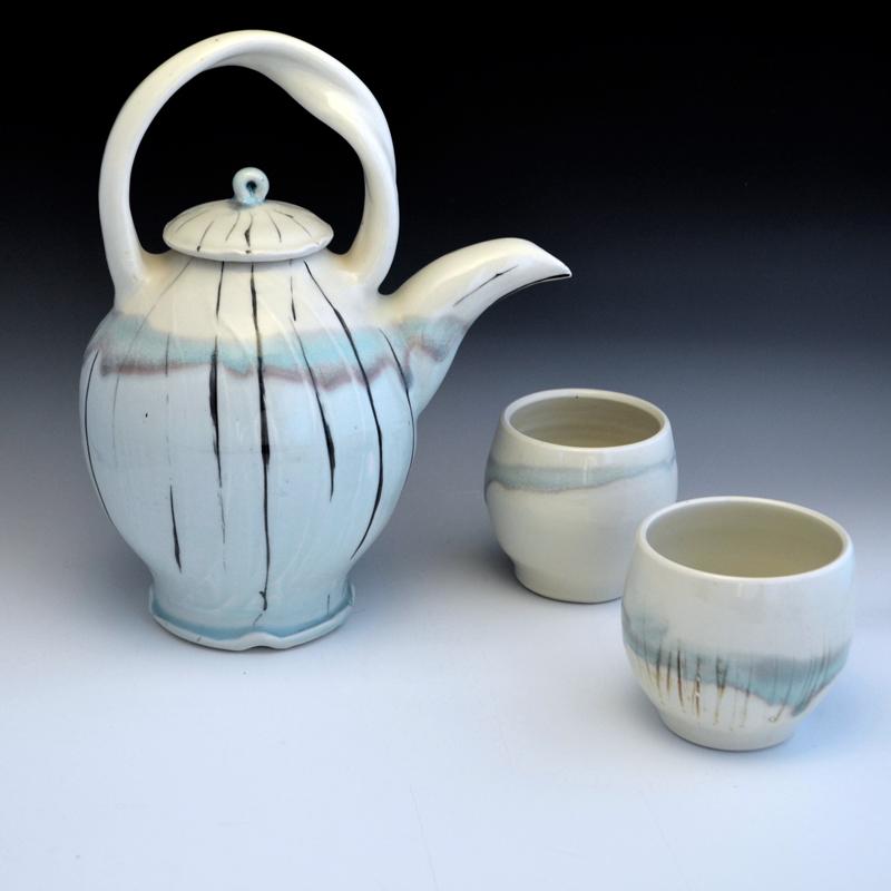 Liz Proffetty Ceramics teapot and cups. (Photo courtesy Liz Proffetty)
