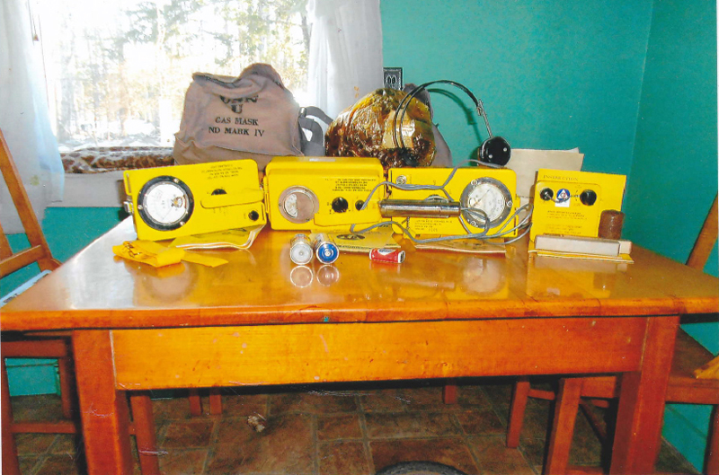 Radiological equipment used in the Cold War of the 1950s and 1960s. (Photo courtesy Arlene Cole)