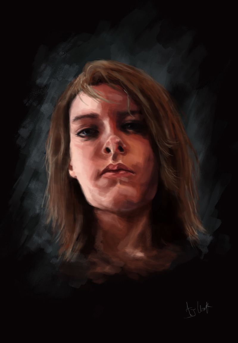 A digital self-portrait by Amber Clark. (Image courtesy Amber Clark)