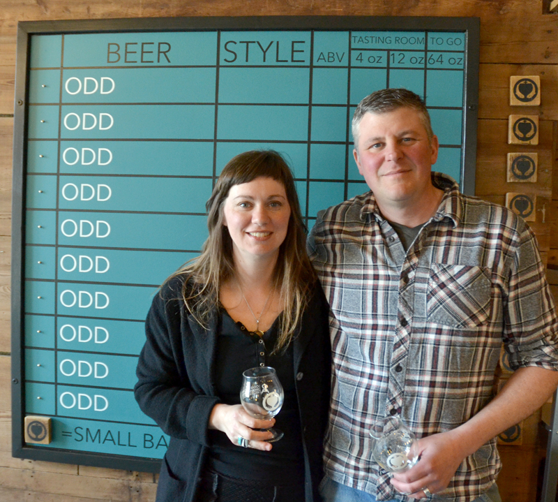 Sarah and John McNeil have opened Odd Alewives Farm Brewery at 99 Old Route 1 in Waldoboro. (Maia Zewert photo)