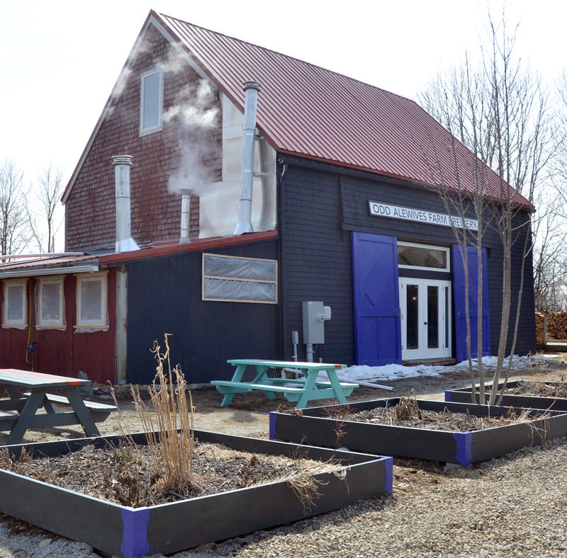 Odd Alewives Farm Brewery will hold a soft opening Thursday, May 3, before its grand opening in early June. (Maia Zewert photo)