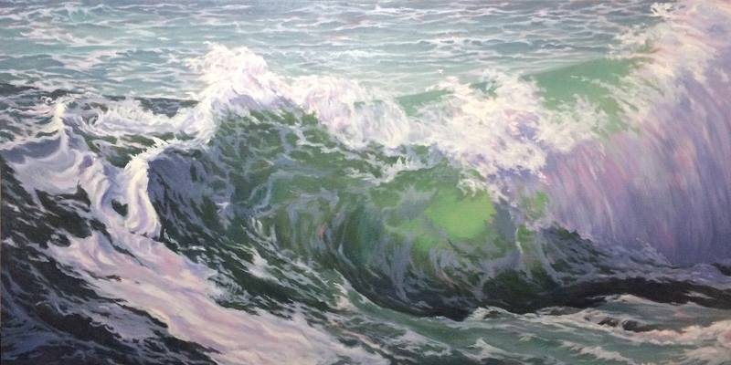 """""""New Wave,"""" an oil painting by Will Kefauver."""