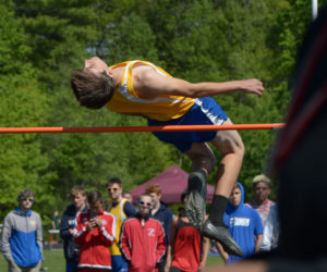 """<span class=""""entry-title-primary"""">Hasch breaks Boothbay high jump record</span> <span class=""""entry-subtitle"""">MVC track and field championships</span>"""