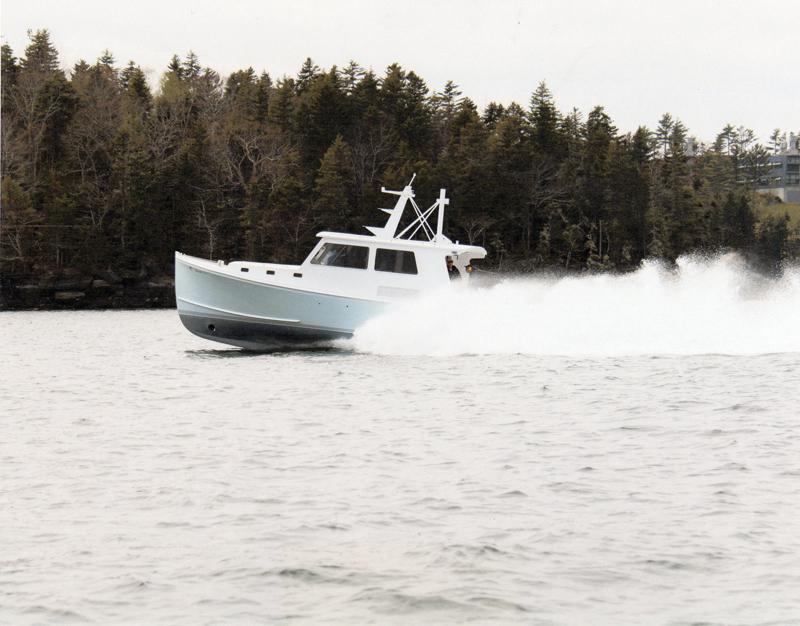 The Farrin's Boatshop 42 Sportfisherman. (Photo courtesy Mike Moorison)