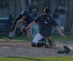 """<span class=""""entry-title-primary"""">Medomak baseball rallies over Lincoln</span> <span class=""""entry-subtitle"""">Medomak 9 - Lincoln 8</span>"""