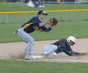 """<span class=""""entry-title-primary"""">Lincoln baseball defend Eagles nest</span> <span class=""""entry-subtitle"""">Lincoln 8 - Medomak 3</span>"""