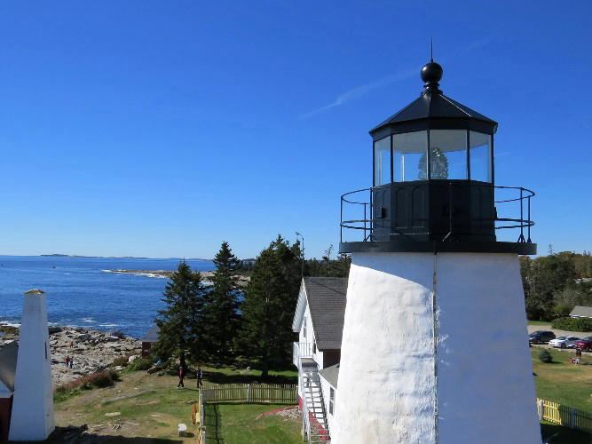 The Pemaquid Point Lighthouse tower. (Photo courtesy Bob Trapani)