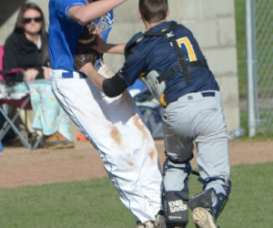 """<span class=""""entry-title-primary"""">Shipbuilders hammer out win over Medomak</span> <span class=""""entry-subtitle"""">Morse 4 - Medomak 3</span>"""