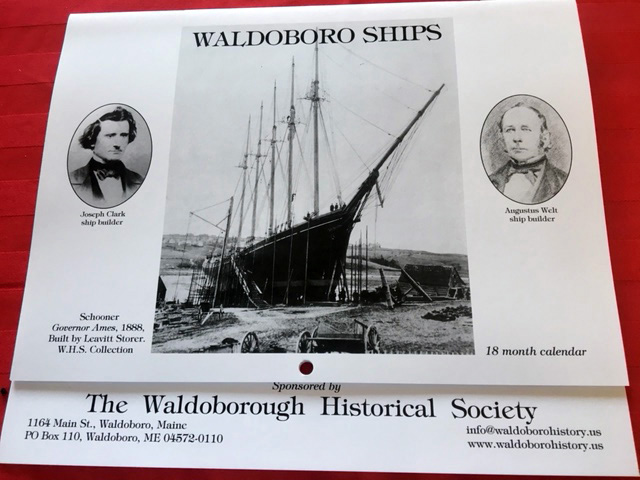 "The 2019-2020 ""Waldoboro Ships"" 18-month calendar."