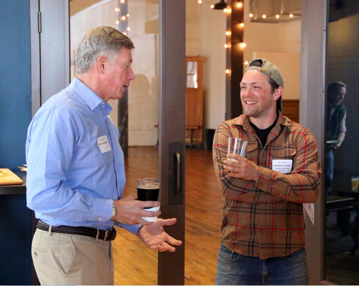 Jonathan Turcotte (right) of Glidden Point Oyster Farms with mentor Mark Dvorozniak. (Photo courtesy Barry Fitzsimmons)