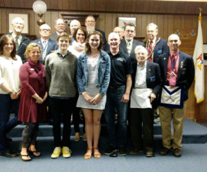 Masonic Lodge Recognizes Local Youth Volunteers