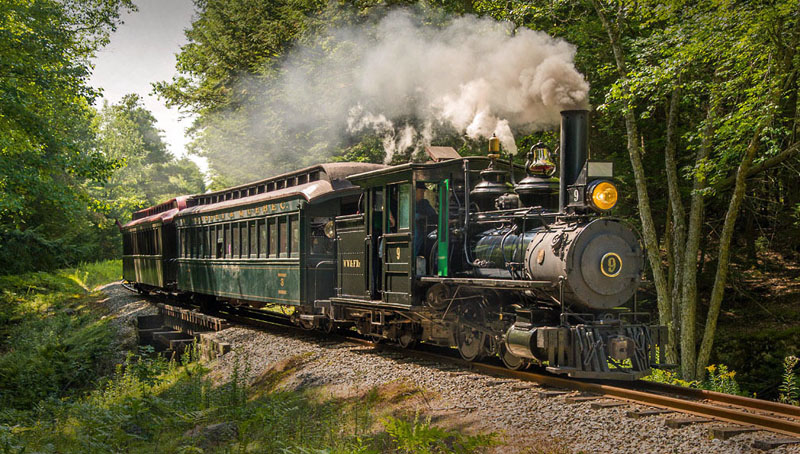 The Wiscasset, Waterville & Farmington Railway Museum will provide train rides to activities at three stations during Alna Day, Saturday, June 16. (Photo courtesy Stephen Hussar)