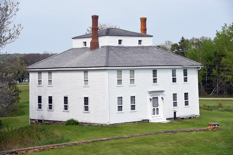 The Fort House at the Colonial Pemaquid State Historic Site in Bristol, Friday, May 25. (Jessica Picard photo)