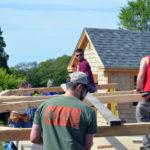 BIW Helps Raise Barn at Twin Villages Foodbank Farm
