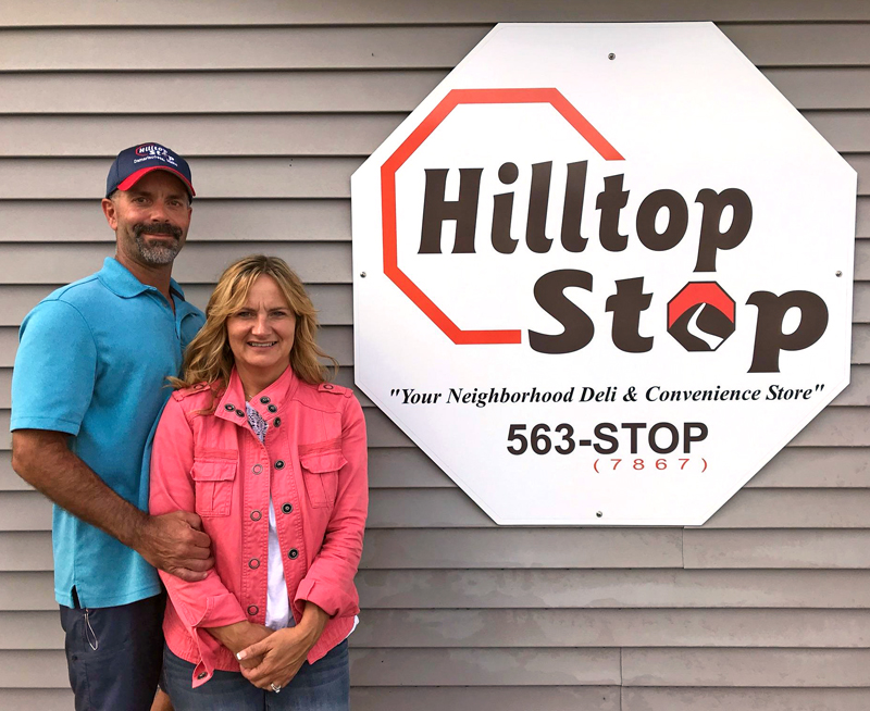 Hilltop Stop founders Gary and Jane Gravel have bought back the Damariscotta store they established in 2011. (J.W. Oliver photo)
