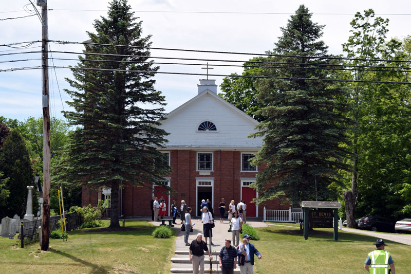 St. Denis Church, of Whitefield, is the second-oldest Catholic church in New England. The church celebrated its 200th anniversary Sunday, June 10. (Jessica Clifford photo)
