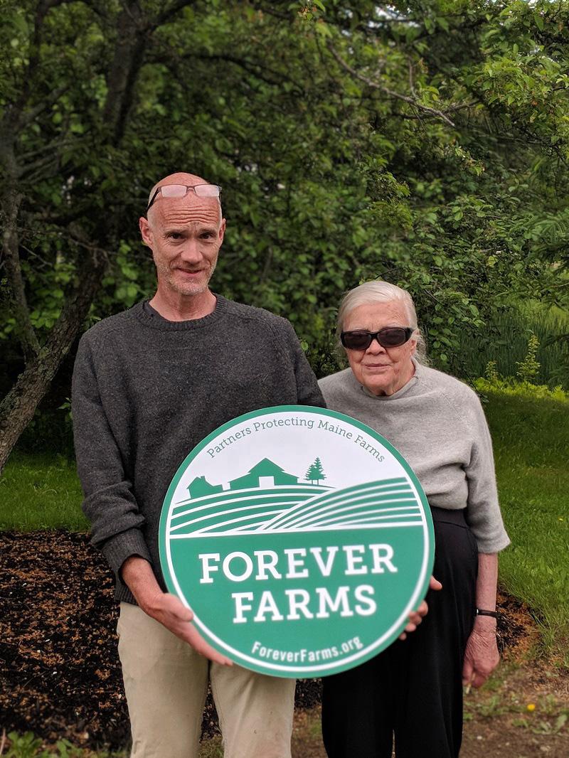Mike Barker and Patty Krebs, of Alna Hopyard and Farm. (Photo courtesy Maine Farmland Trust)