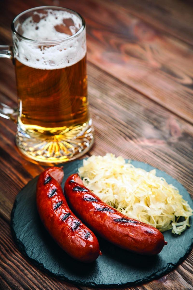 Enjoy a brat and a brew!