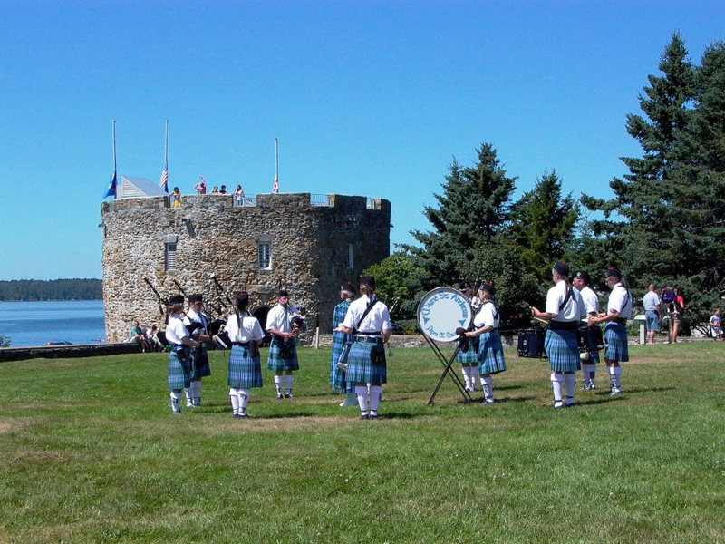 A rousing performance by Maine St. Andrew's Pipes and Drums will lead off the 2018 summer season of events at Colonial Pemaquid State Historic Site.