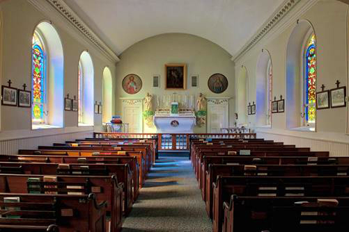 The interior of St. Patrick's Catholic Church.