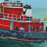 Seafaring Scenes at McGrory & Wolf for ArtWalk Waldoboro