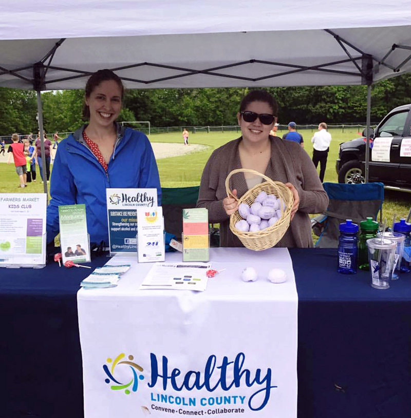Healthy Lincoln County staff members at Waldoboro Day 2017.