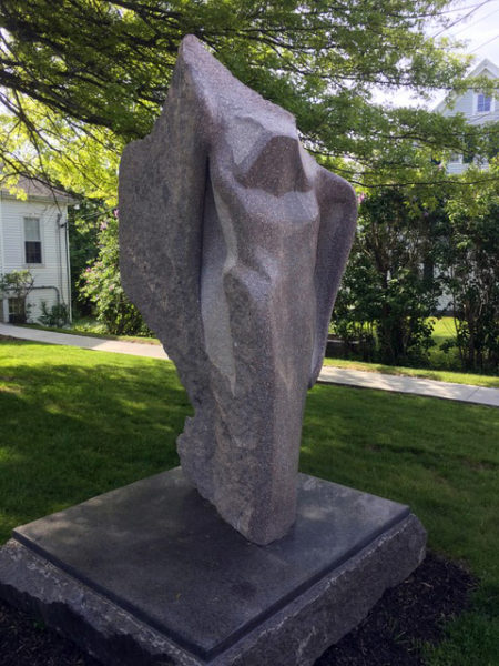 """""""To the Water,"""" by Andreas Van Huene, at The Congregational Church of Boothbay Harbor. (Photo courtesy Patricia Royall)"""