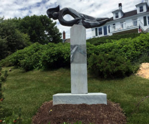"""Mercury,"" a sculpture by Dick Alden, is at Greenleaf Inn. (Photo courtesy Patricia Royall)"