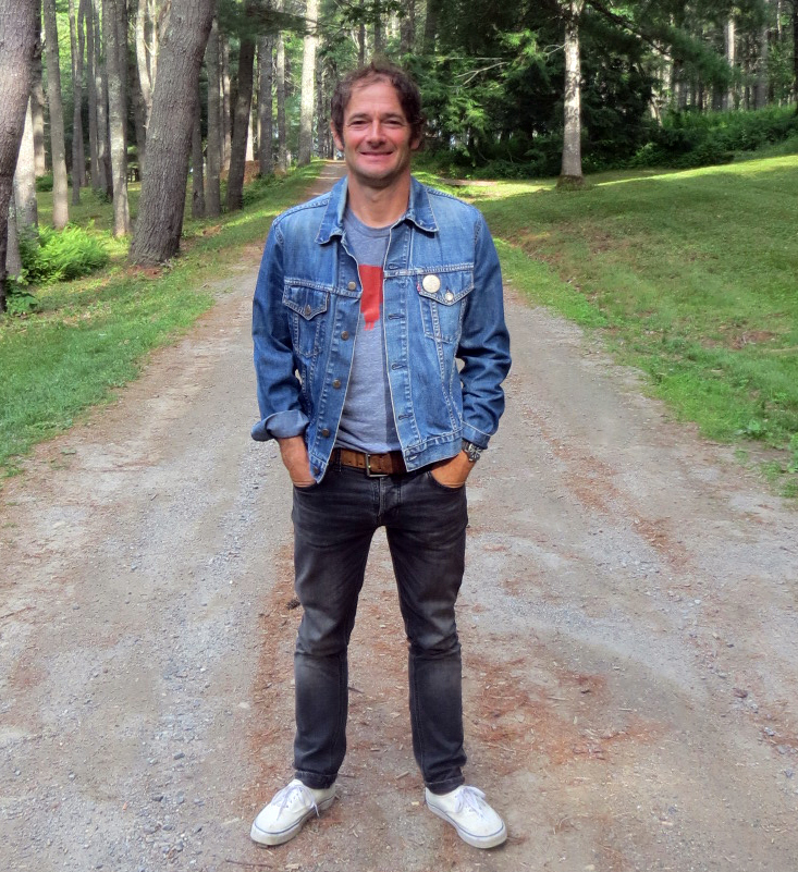 Musician John Stirratt, of Wilco and The Autumn Defense, at home in Bremen. Stirratt will perform with The Autumn Defense in Boothbay Harbor on Thursday, July 26, and with members of the Maine Youth Rock Orchestra in Waldoboro on Aug. 1. (John Maguire photo)