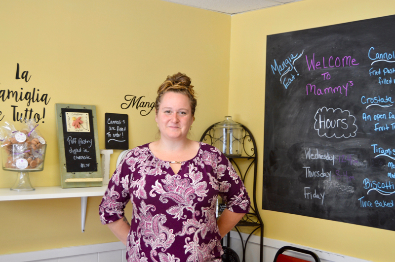 Mammy's Bakery owner Jessica Deshiro sells traditional Italian baked goods, sweet and savory, from a location near the intersection of Main Street and Route 1 in Damariscotta. (Johanna Neeson photo)
