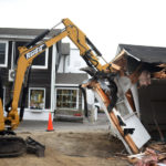 Demolition of Damariscotta Barbershop Begins