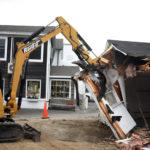 Demolition of Damariscotta Barbershop Begins
