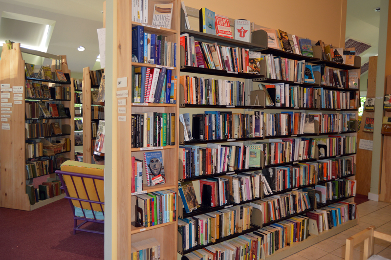 Skidompha Secondhand Book Shop contains 15,000 volumes. (Johanna Neeson photo)