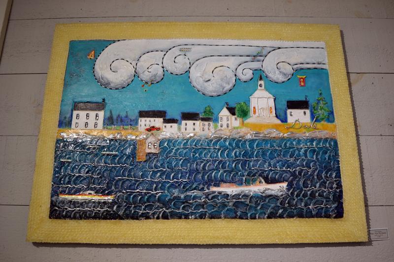 """Dale Dapkins' """"From the Harbor."""" (Christine LaPado-Breglia photo)"""