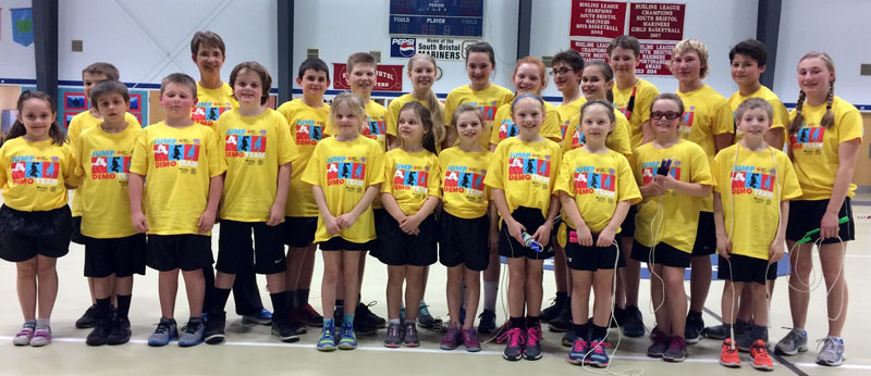 Liz Giles-Brown poses with the 2016 Spindrifters jump-rope team. (Photo courtesy Liz Giles-Brown)