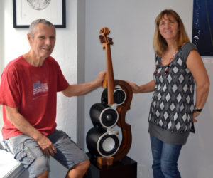 Waldoboro Artist Creates Beautiful, High-Performance 'Sculptural Speakers'