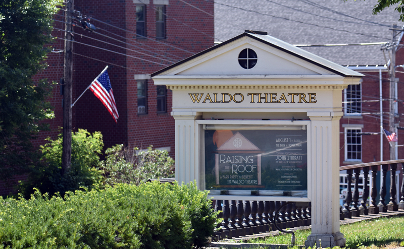 The Waldo Theatre marquee advertises the upcoming Raising the Roof fundraiser. (Alexander Violo photo)