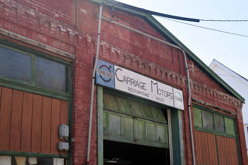 Carriage Motors owner David Laemmle plans to sell the building at 27 Middle St. in downtown Wiscasset after 46 years at the location. He will continue his work from a barn on his property in Alna. (Jessica Clifford photo)