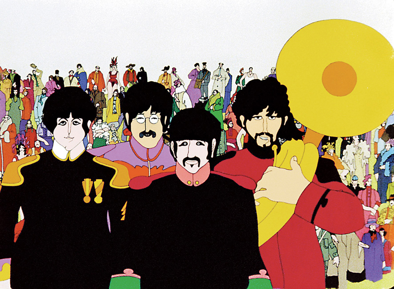"It is the 50th anniversary of The Beatles' ""Yellow Submarine."" (Image courtesy Subafilms Ltd.)"