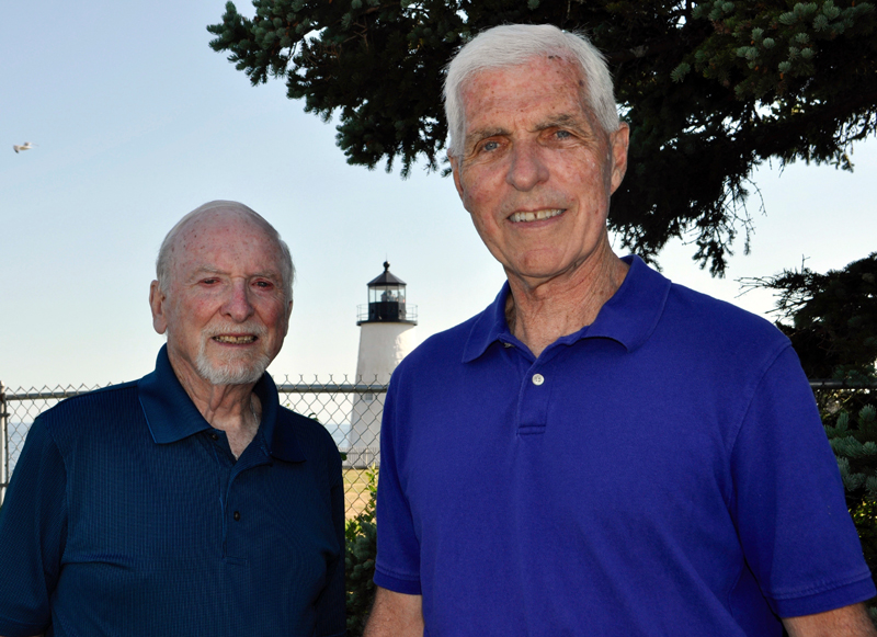The Newcastle Realty broker team of Bill Byrnes (left) and Lee Simard. (Photo courtesy Kim Traina)
