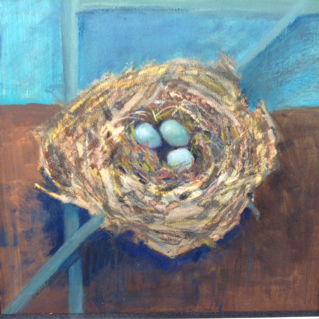 """Nest ll,"" an oil painting by Carol Wiley."