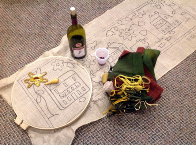 A rug-hooking and punch-needle demonstration will take place at Attic Heirlooms. (Photo courtesy Trish Harriman)