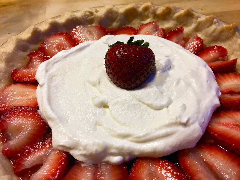Strawberry cream pie is awesome and delectable. (Suzi Thayer photo)
