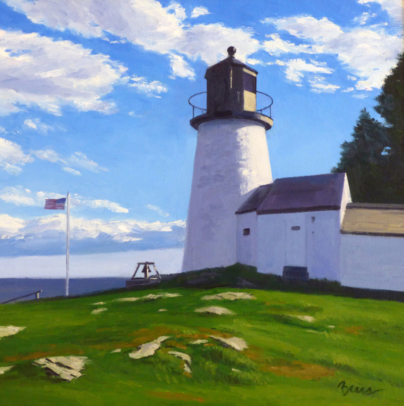 "Kevin Beers' ""Burnt Island Light."""