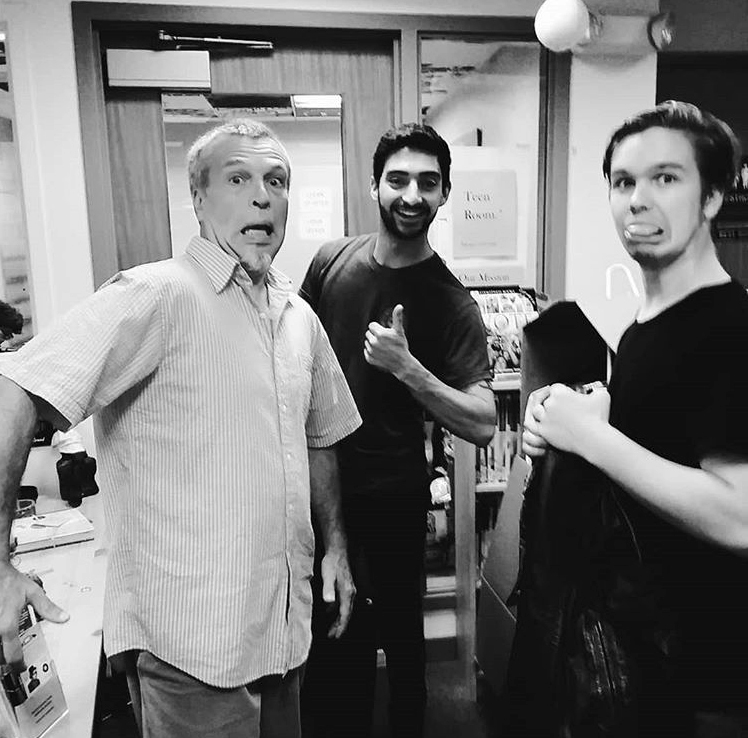 "From left: Sumner Richards III, Ryan Tyler, and JohnHenry Eddyblouin backstage at River Company's ""The Taming of the Shrew."""