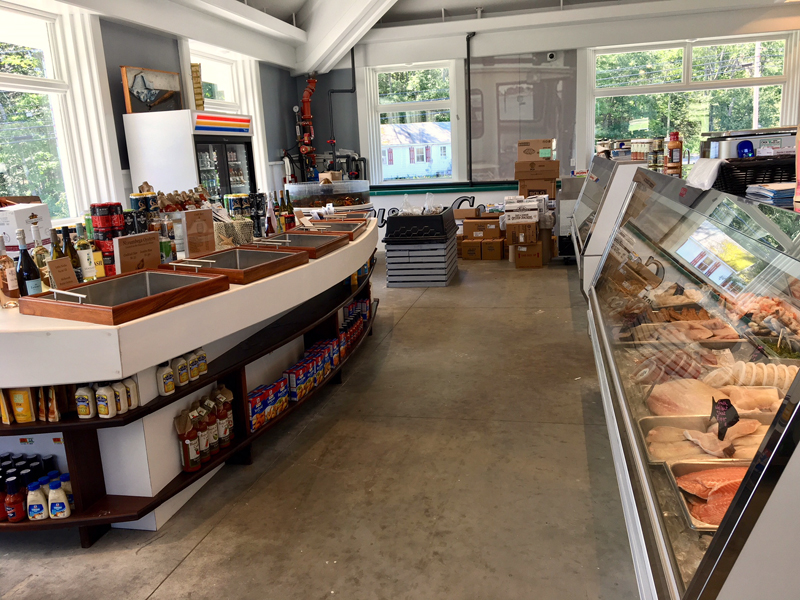 A view of the seafood section at Pinkham's Gourmet Market. (Suzi Thayer photo)