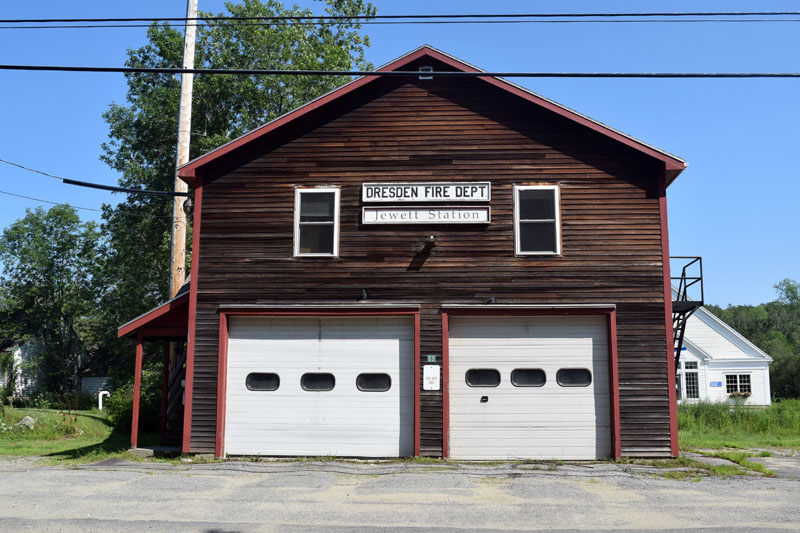The Dresden Fire Department's original fire station in Dresden Mills, now known as Jewett Station. (Jessica Clifford photo)