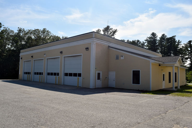 The Dresden Fire Department's primary modern-day station, at the intersection of Routes 128 and 197 in West Dresden. (Jessica Clifford photo)