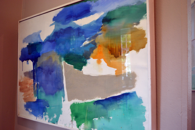 "Consuelo Joerns' acrylic abstract ""Harbor Hull."" (Christine LaPado-Breglia photo)"